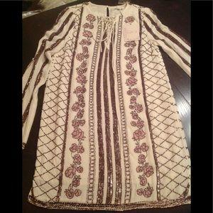 SALE Cali BOHO beaded  shift dress
